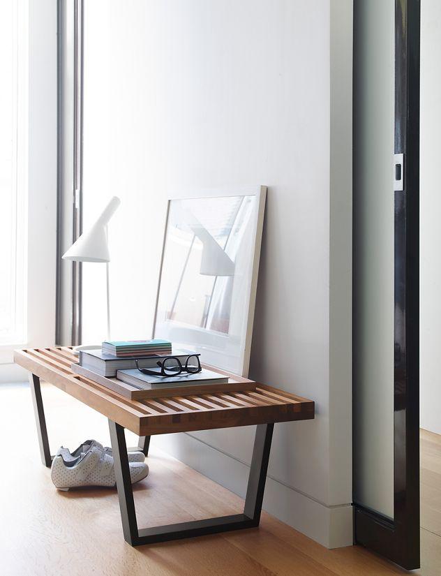 Doble uso Banco de madera Nelson muebles descalzador Singular Market