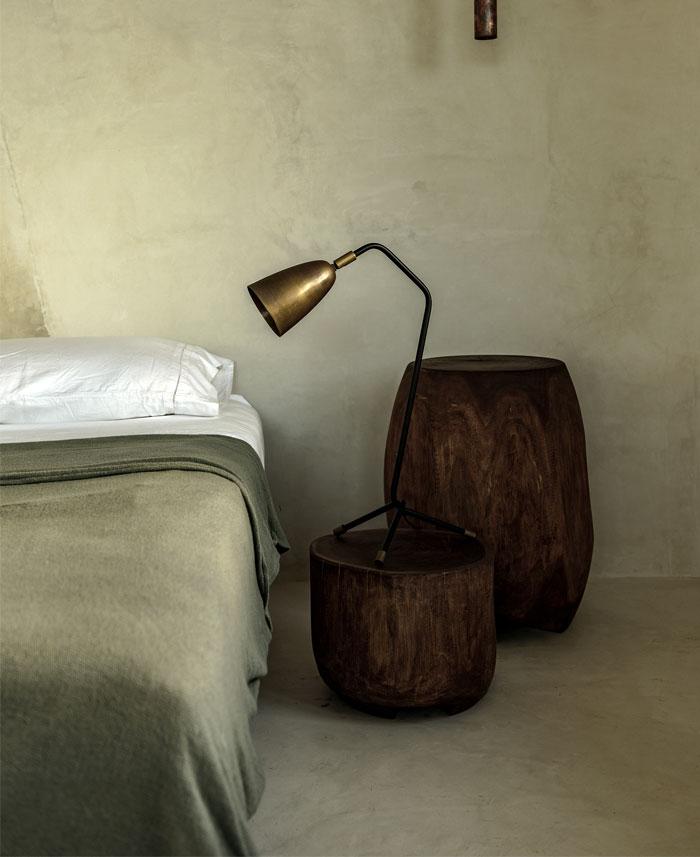 Doble uso Taburete bajo madera tronco mesa auxiliar Singular Market