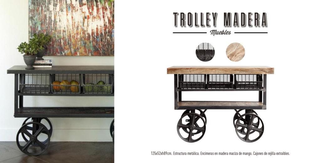 Trolley Camarera Madera Singular Market