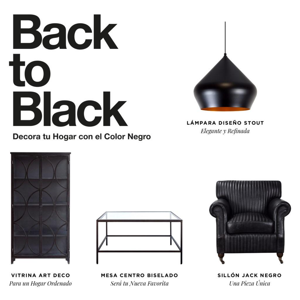 Decora to hogar con el color negro Singular Market