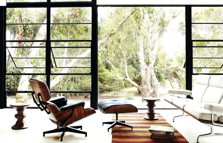 Butaca réplica lounge chair de piel