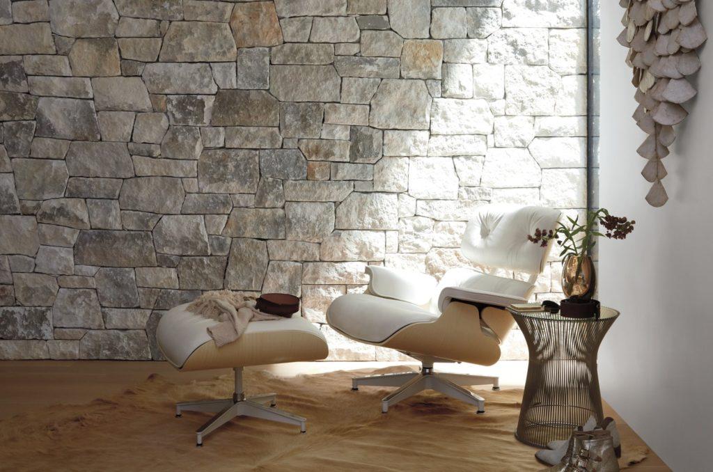 Butaca de diseño lounge chair eames de piel color blanco