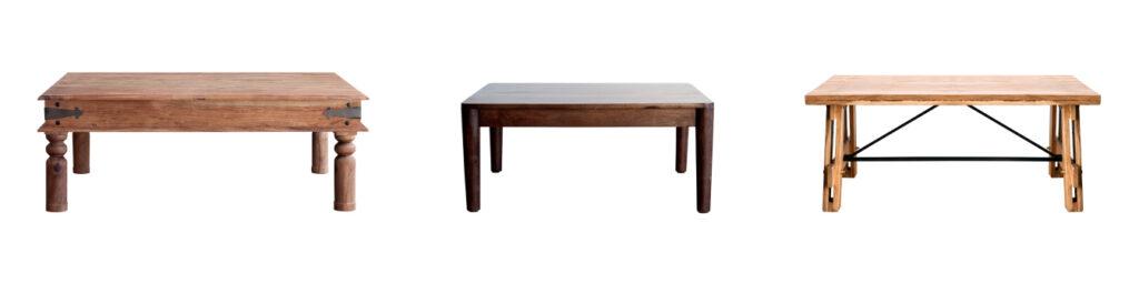 mesas de centro estilo rústico