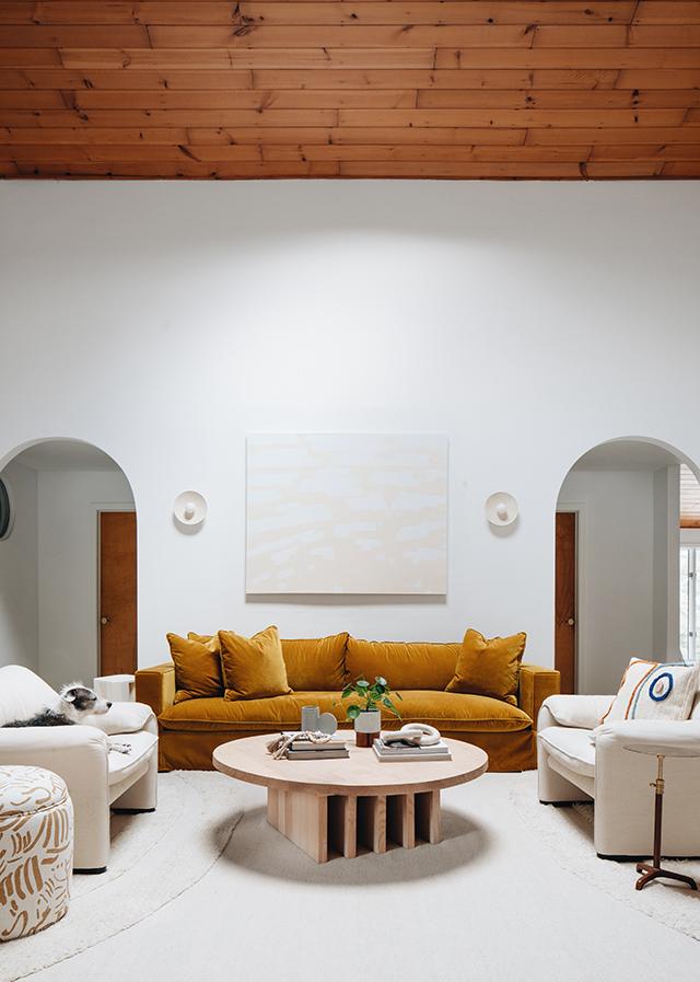 salón de estilo scandifornian