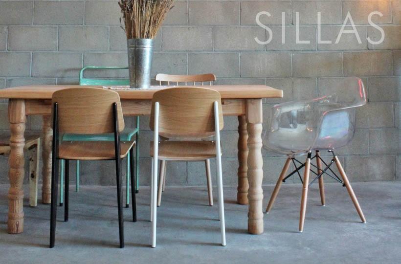Sillas de diseños clásicos, contemporáneos y de diferentes materiales.